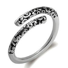 Steel Women Men Punk Monkey Style Open Rings Silver Plated Magic Spell Ring