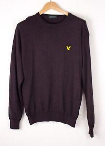 Lyle & Scott Herren Wolle Pullover Sweatshirt Größe M ASZ816