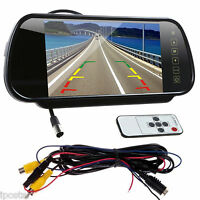 "7"" TFT LCD Car Rear View Reverse Mirror Monitor for Reversing Camera/VCD/DVD/GPS"
