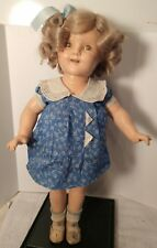 "VINTAGE/RARE 1930'S SHIRLEY TEMPLE COMPOSITION 18"" DOLL SLEEPY EYES TEETH/TONGUE"