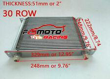 30Row universal Mocal aluminio para AN10 radiador de aceite transmis 248MM Plata