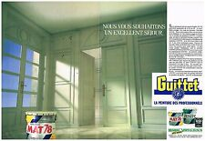 Publicité Advertising 1988 (2 pages) La peinture Guittet