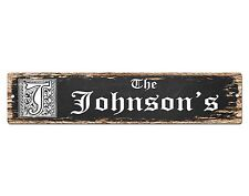 SP0439 The JOHNSON'S Family name Sign Bar Store Shop Cafe Home Chic Decor Gift