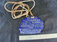 PLACCA LAVERDA BADGE MOTO LAVERDA RADUNO NAZIONALE BREGANZE MADE IN ITALY
