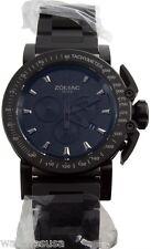Zodiac Men's ZO8542 Black Dial Chronograph Titanium Case Swiss Made Quartz Watch
