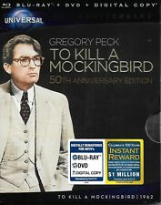 To Kill a Mockingbird (Blu-ray/DVD/Digital) 100th Anniversary with Slipcover NEW