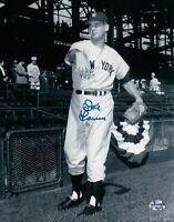 Don Larsen Signed 8X10 Photograph Autograph Yankees Warm-up Dual Line Auto w/COA