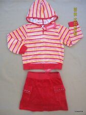 Gymboree Sugar and Spice Red Skirt Skort Sequin Striped Jacket Hoodie 6 NWT New
