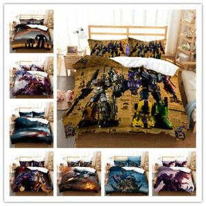 3D Transformers Duvet cover Pillowcase Bedding set Single Double Children's gift