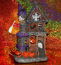 "10"" LED HAUNTED HOUSE HALLOWEEN DECORATION mummy skeleton light up spooky horror"