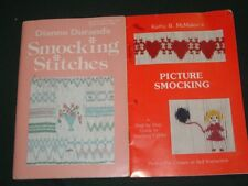2 Vtg Lot 80s Picture Smocking How To Booklets by K. McMakin & Dianne Durand#R33