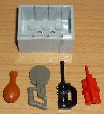 Lego City 1 Kiste in neu hell grau mit Zubehör