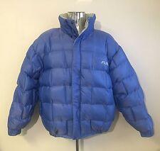 FUBU Reversible Goose Down Puffer Coat - Blue - 90's Hip Hop - Men's Large