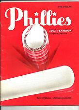 1963 PHILADELPHIA PHILLIES YEARBOOK NEAR MINT
