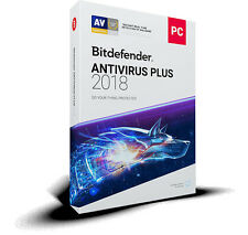 Bitdefender Antivirus Plus 2018 - 1 PC 1 Year