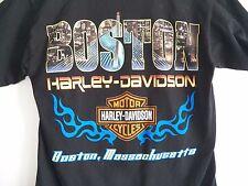 HARLEY DAVIDSON Motor Oil High Octane BOSTON MA. MotorCycles Black Small T-Shirt