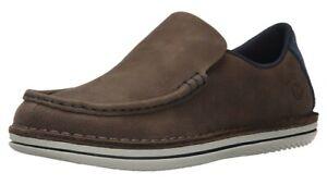 Men Merrell Moc Slip On Leather Loafer Shoes 12 Brown