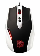 ThermalTake TT eSports Black Gaming Mouse, Combat White Edition
