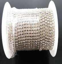 yueton 11 Yards Crystal Rhinestone Close Chain Trimming Claw Jewelry Craft