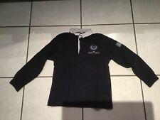 tee shirt polo rugby à manche 100% coton Cyrillus 6 ans garçon bleu marine