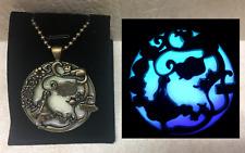 Alice in Wonderland GLOW in the DARK Glitter Fantasy Charm Pendant Necklace