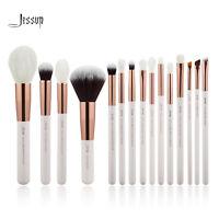 Jessup 15pcs Makeup Brushes Set Powder Foundation Eyeshadow Concealer Rose Gold