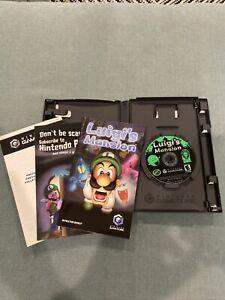 Luigi's Mansion (Nintendo GameCube, 2001) Complete Tested Black Label Manual CiB