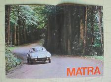 Voiture MATRA DJET 5  5s brochure de vente marche belge 1966 17x21cm