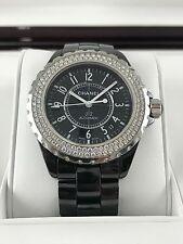 Ladies Chanel J12 Black Diamond Bezel Watch