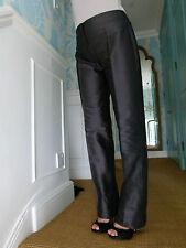 Armani Collezioni black straight leg silk blend trousers IT size 38 UK size 6-8