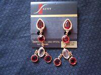 Vintage SAVVY Swarovski Full Lead Crystal Clip Earrings