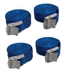 Paquete De 4 Leva Hebilla Correas De Amarre remolques Bastidores de techo 25 X 2500 mm de largo