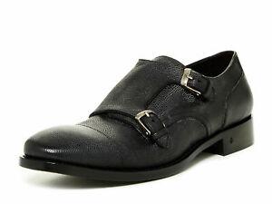 JOHN VARVATOS Men's Charcoal Fleetwood Double Monk Loafers Sz 9 NEW