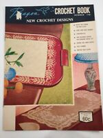 Retro Vintage Crochet Pattern Book Doilies Cloths Edges Mats Paragon Australia