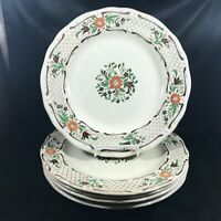 Set of 5 Vintage JOHNSON BROS Fleur L'Orange Dinner Plates
