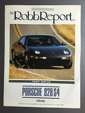 1989 Porsche 928 S4 Coupe Showroom Advertising nSales Brochure RARE Awesome L@@K