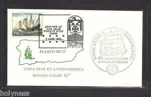 BUQUE ESCUELA CUAUHTEMOC MEXICO / SOBRE POSTAL / PICTORIAL COVER 92  PUERTO RICO