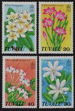 Z686 TUVALU #92-95 Flowers Mint NH
