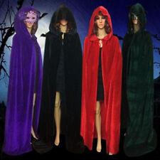 Gothic Kapuzen Samt Umhang Gewand mittelalterliche Hexerei Cape Halloween Kostüm