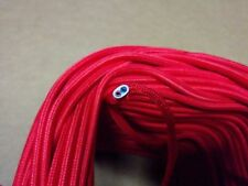 Vintage 2-Wire Flat Parallel Cloth Covered Wire Antique Pendant Lamp Cord Red