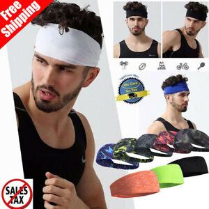 Hair Head Band Sweatband Headband Stretch Mens Wrap Elastic Sports Men Thin Gym