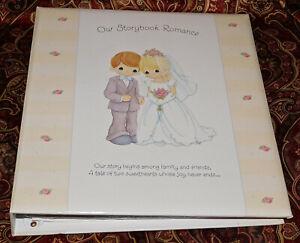 2001 Hallmark Precious Moments OUR STORYBOOK ROMANCE Wedding Album NEW Gift Book