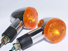 Chrome Amber Bullet Turn Signals For Suzuki Boulevard Intruder S40 C90 M90 M109R