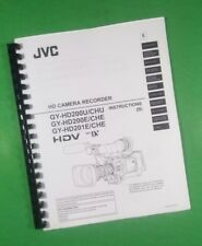 JVC GY-HD200 GY-HD201 Series Camera Recorder 114 Pg. LASER PRINTED Owners Manual