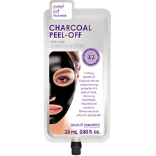 Skin Republic Charcoal PEEL OFF Face Mask Removes Blackheads and Dirt from Pores