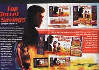 JAMES BOND HERSHEY'S 4 PAGE PROMOTIONAL BROCHURE THE WORLD IS NOT ENOUGH 1999