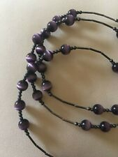 Size 8- pre owned Antique Purple Bead Bracelets-
