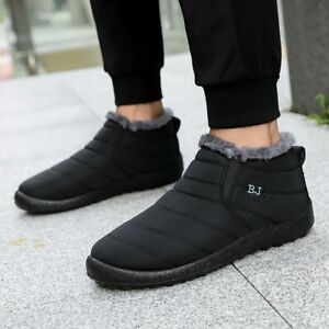 Woman Snow Boots Plush Warm Ankle Boots Waterproof Round Toe Shallow Work Wear