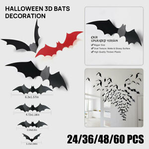 Halloween Stickers Scary Bat Decoration Haunted Indoor Party Supplies House Wall