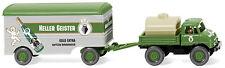 Wiking 037106 h0 camiones Unimog u 406 con maleta remolque sótano fantasmas